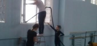 Субботник на отделении художественной гимнастики