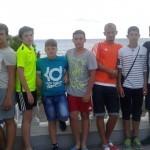 Отдых футболистов в городе Новороссийске (поселок Кабардинка)