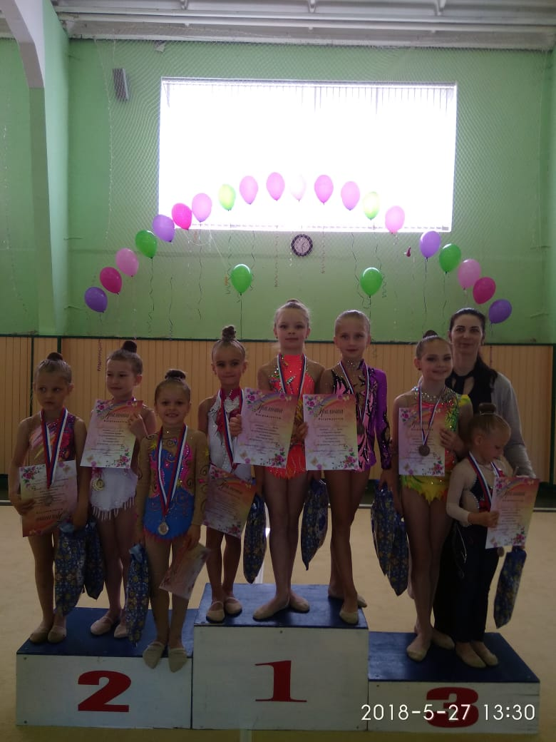 Выезд в город Луховицы отделения художественной гимнастики 27 мая 2018 года