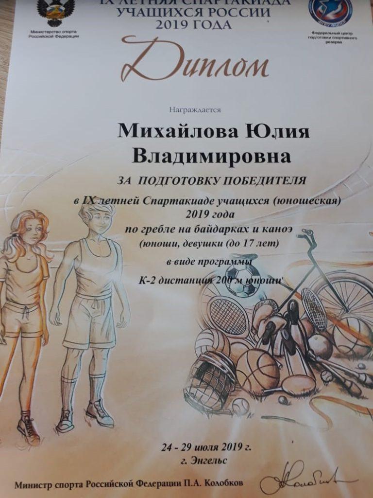 9 летняя спартакиада учащихся России  по гребле на байдарках и каноэ