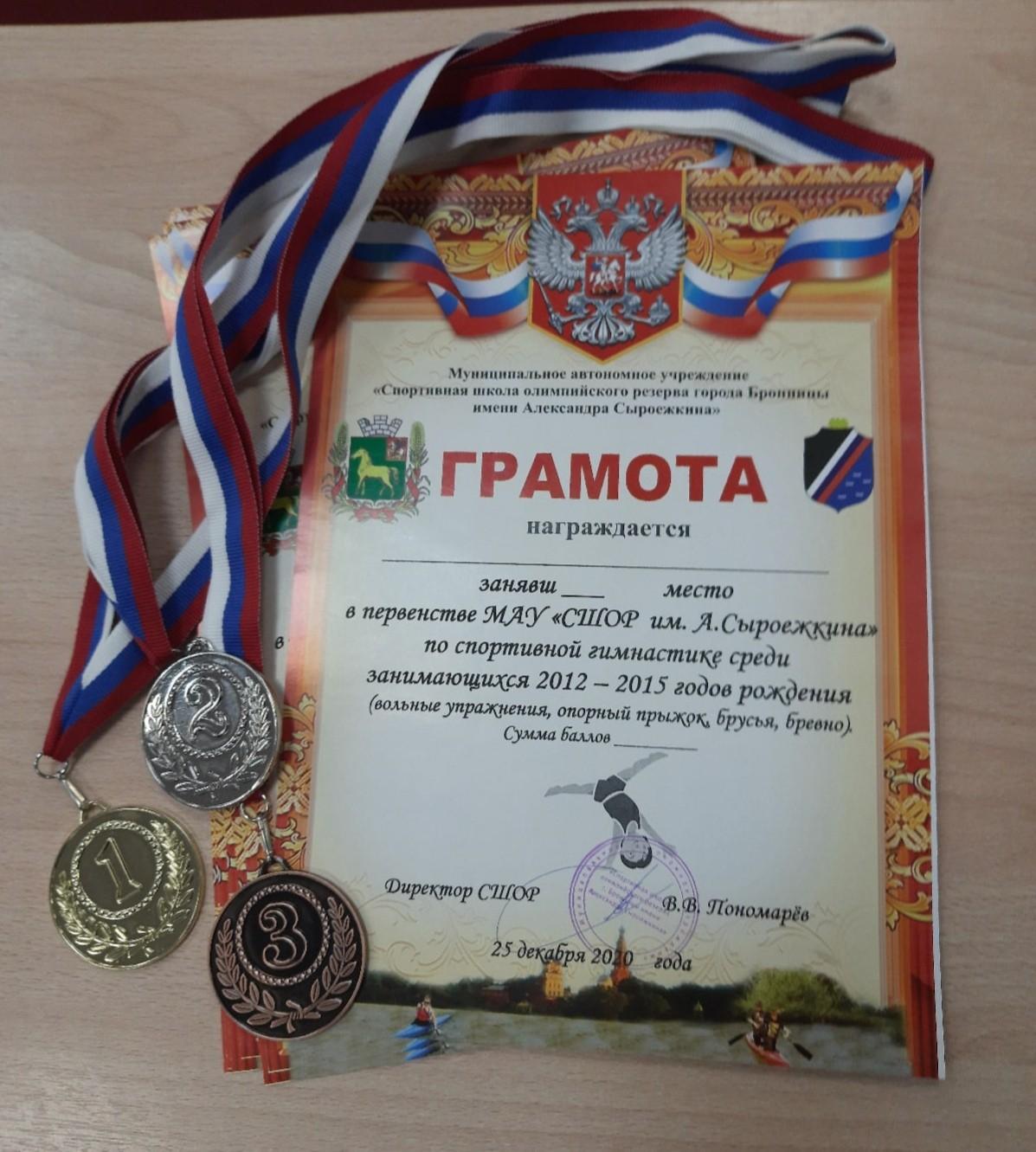 Первенство СШОР по спортивной гимнастики